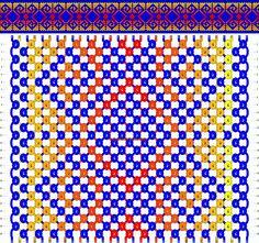Normal Friendship Bracelet Pattern #8289 - BraceletBook.com