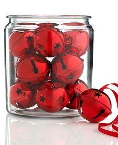 Red Christmas bells in a jar décor Toni Kami Joyeux Noël Christmas Jingles, Merry Little Christmas, Christmas Bells, Christmas Colors, All Things Christmas, Winter Christmas, Christmas Tree Ornaments, Christmas Holidays, Christmas Decorations