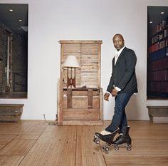 """""""I'm not really an artist,"""" Theaster Gates likes to say. """"I'm probably first a hustler."""""""