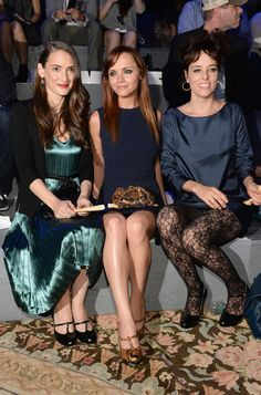 Marc Jacobs Fashion show 2013 Winona Ryder, Christina Ricci, and Parker Posey