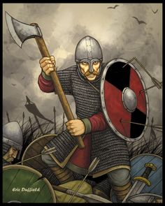 This is and Anglo-Saxon Huscarl at the Battle of Hastings, 1066.  Hastings by ~Duffield03 on deviantART