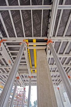 Clear increase in productivity with SKYDECK slab formwork Concrete Formwork, Modern Fence Design, Construction Sector, Commercial Construction, Concrete Structure, Scaffolding, Facade Design, Civil Engineering, Vikram Kumar