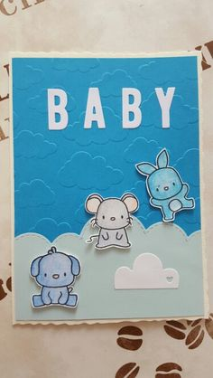 Baby card with Mama Elephant Lunar Animals