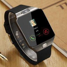 Sports Smart Watch DZ09 Card Phone Watch - black