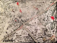 Décollage in the style of Mark Bradford. Recently exhibited in the Royal Academy Summer Exhibition. Mark Bradford, Vintage World Maps, Summer, Style, Stylus, Summer Time
