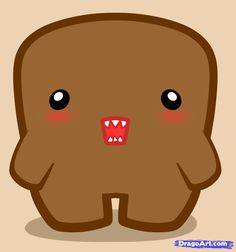 How to Draw Chibi Domo, Step by Step, Characters, Pop Culture ...