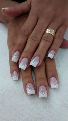 Nail unha francesinha bridal nails french, nail french, french manucure, french tips, French Nails, French Manicure Nails, Manicure Ideas, French Nail Designs, Nail Art Designs, Cheetah Nail Designs, Toe Nails, Pink Nails, Coffin Nails