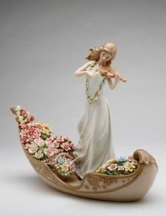 Porcelain Lady of The Paradise Figurine.