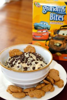 Chocolate Chip Cookie Dough Dip!  A skinny version BUT so delicious! by whatscookingwithruthie.com #recipes #appetizers