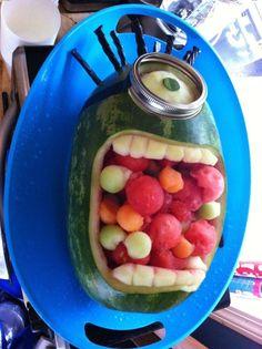 ... Fruit Salads, Samuel Minions, Minion Watermelon, Salad S, Minion Fruit