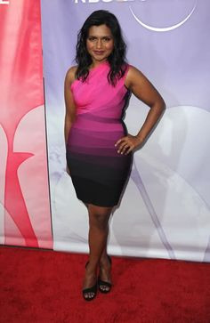 Mindy Kaling in a stunning Herve Leger dress at NBC Universal's TCA Summer Party.