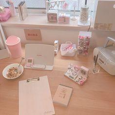 Study Room Decor, Study Rooms, Bedroom Decor, Aesthetic Room Decor, Pink Aesthetic, Kawaii Bedroom, Cleaning My Room, Otaku Room, Study Corner