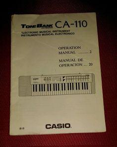 CASIO Tone Bank Keyboard CA-110 Operation Manual English & Spanish JAPAN pb