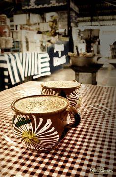 """Chocolate de agua"" (Cocoa).    TRADITIONAL BEVERAGE OF OAXACA"
