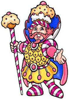Candyland King Candy character cutouts on P...
