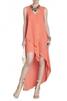 BCBG Max Azria Tara High-Low Maxi Ambrosia Dress