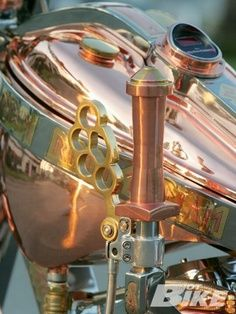 """Now I know what I want for a Count Kustom (Danny """"The Count"""" - watch Counting Cars) - a brass steampunk bike!"""