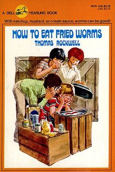 In the 70's, Thomas Rockwell's How to  Eat Fried Worms was a children's book that was either given as suggested reading or was read out loud in class.  How to Eat Fried Worms can still be found on elementary school reading lists today.
