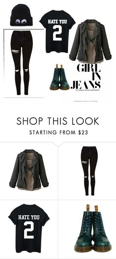"""""""Sem título #682"""" by iviny-167 on Polyvore featuring moda, Coldwater Creek, Topshop e Dr. Martens"""