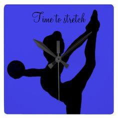 Rhythmic gymnastics Clock! Time to stretch <3