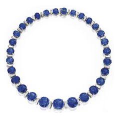 Platinum, Sapphire and Diamond Necklace, Oscar Heyman & Brothers   Sotheby's Magnificent Jewels, Dec. 9 2014