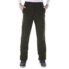 Introducing Nonwe Mens Outdoor Winter Water Resistant Fleece lined Cargo Snow Hiking Pants Green M. Great product and follow us for more updates!