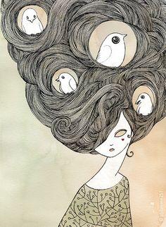 nesting hair and tweet...
