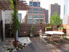 Brown urban garden