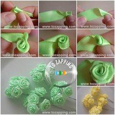 Cómo hacer rosas de tela