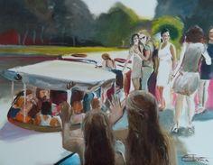 Live geschilderd tijdens een verjaardagsfeest in Blaricum
