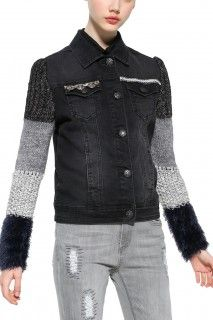 Desigual Outlet - Desigual / Different. Shades Of Grey, Leather Jacket, Boutique, Denim, Jackets, Exotic, Black, Fashion, Hands