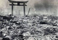 Devastated: Hardly any buildings in Hiroshima were left standing after the massive atomic bomb blast