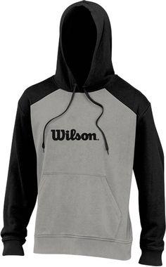 Wilson Men's Fleece #Hoody (Grey/ Black)