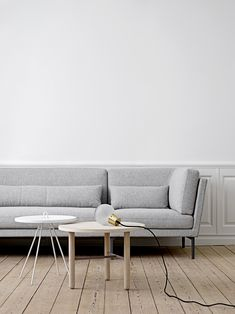Rox will give you everything you ever needed in one furniture. Rox sofa in melange grey. Design by Bloomingville
