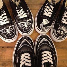 Vans/ Totally digging the Custom designs by Instagram user Brian Butler (@Becky Swanson art)