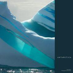 Antarctica--striped icebergs