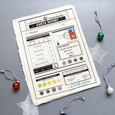 christmas card report from santa by imperial telegrams | notonthehighstreet.com