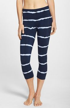 Free shipping and returns on Hard Tail Tie Dye Capri Leggings at Nordstrom.com. A wide, flat waistband ensures a sleek, flattering fit in stretch-cotton cropped leggings designed with reinforced seams for lasting wear.