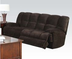 Acme Furniture - Ahearn Chocolate Champion Motion Sofa - 50475