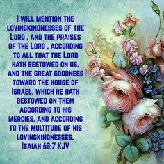 Isaiah 63:7 (KJV)