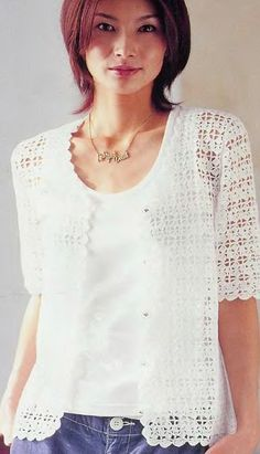 Summer crochet jacket with diagrams at site