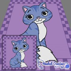 Kuddle Kitty SC Throw Blanket Crochet Pattern - PDF Download