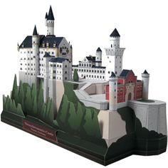 The Swan Castle Papercraft Model The real Swan Castle was built by King Ludwig II. The real castle is located near Fussen in Bavaria, Germany. This is the awesome castle that still exists until today