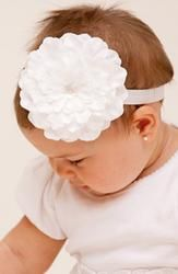 PLH Bows and Laces Flower Headband (for babies and toddlers)