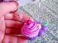 Chaveirinho cupcake.Demassinha arte em biscuit.