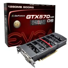 EVGA GeForce GTX 570 HD Double Shot 1280 MB GDDR5 PCB PCI-E 2.0 Graphics Card 012-P3-1577-KR by EVGA. $279.99. From the Manufacturer                Introducing the EVGA GeForce GTX 570 HD. Enjoy blistering fast DirectX 11 performance, including tessellation performance that destroys the competition. Experience a whole new level of interactive gaming with SLI and combine up to three displays for the ultimate in 3D entertainment. With these features and more, the EVG...