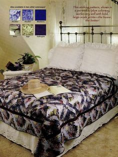 """Hydrangea Clusters    Finished  Size77-1/2""""x92-1/4""""          Quilt Pattern Only"""