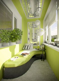 An ingenious project for the balcony signed by Olga Cherednikova interior designer from Moscow, Russia