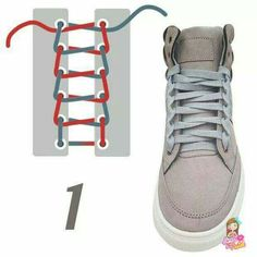 Tennis Shoe Style 1 Source by Ways To Lace Shoes, How To Tie Shoes, Diy Fashion, Womens Fashion, Tie Shoelaces, Lace Patterns, Diy Clothes, Sneakers, Footwear