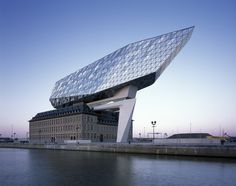 Image 1 of 41 from gallery of Antwerp Port House / Zaha Hadid Architects. Photograph by Helene Binet